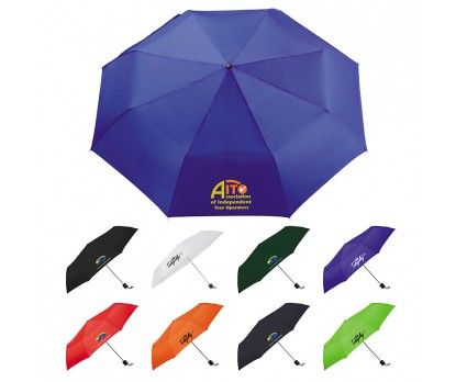 41 Inch Arc Folding Custom Printed Umbrellas w/ 9 Colors