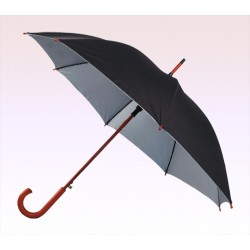 48 Inch Arc Personalized Auto Open Umbrellas with Hook Handle