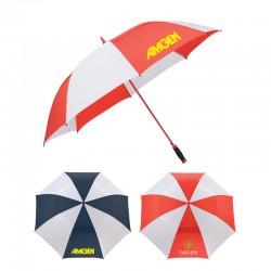 64 Inch Arc Promotional Logo Vented Auto Open Golf Umbrellas
