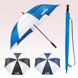 Promotional 64 Inch Arc Slazenger Champions Vented Auto Golf Umbrellas