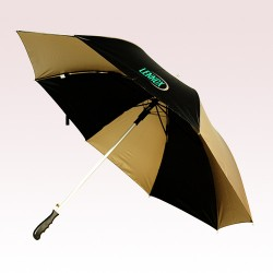 56 Inch Arc Custom Printed Black/Metallic Gold Auto Open Umbrellas