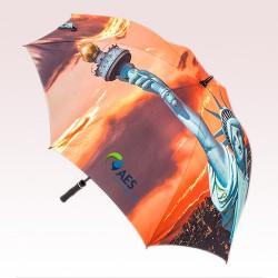 62 Inch Arc Custom Printed Full Color Golf Umbrellas