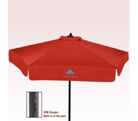 7 Ft Custom Printed USB Market Umbrellas with Valances