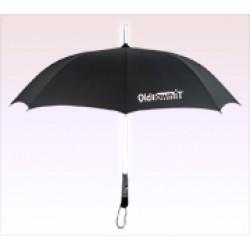 46 inch LED Lighted Custom Printed Logo Umbrella w/ Black Color