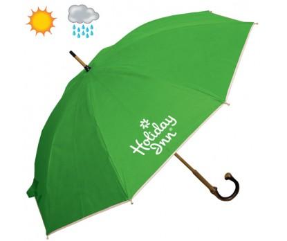 48 Inch Arc Custom Printed Non Woven Executive Umbrellas With Bamboo Shaft