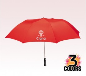 56 Inch  Auto Folding Imprinted Golf Umbrella w/ 3 Colors
