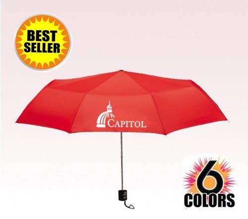 41 Inch Arc Folding Custom Logo Umbrellas w/ 7 Colors