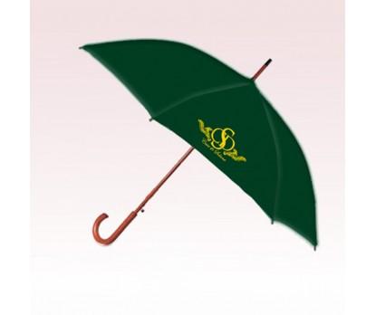 Personalized 48 inch Auto-Open Deluxe Curved Maple Handle Fashion Umbrella