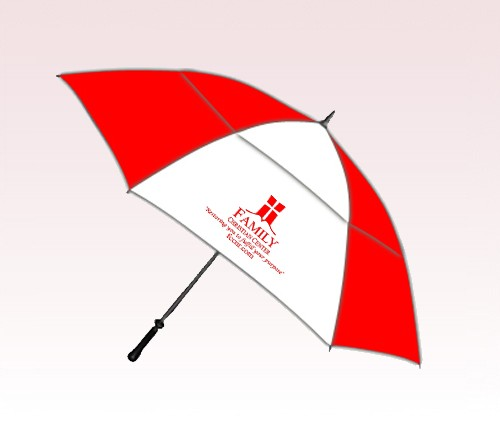 Personalized 54 inch Windproof Mid-Size Golf Umbrella