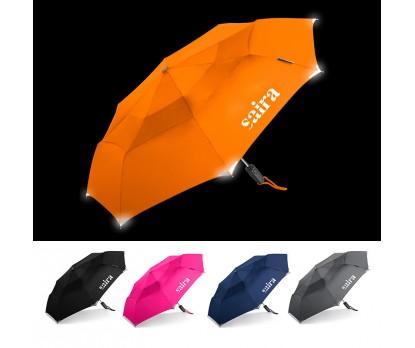 42 Inch Arc Custom Walksafe® Vented Auto Open/Close Compact Umbrellas