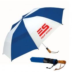 58 Inch Arc Custom Windjammer® Vented Auto Open Jumbo Compact Umbrellas