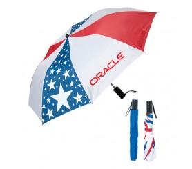 42 Inch Arc Custom Logo Folding USA Umbrellas