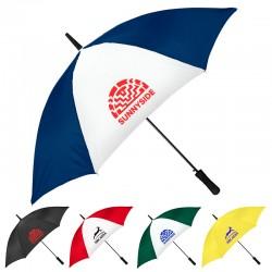 48 Inch Arc Custom Imprinted City Slicker Fashion Stick Umbrellas