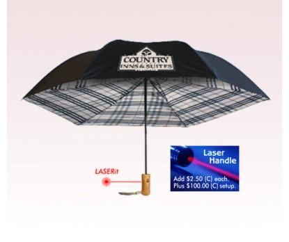 Customized 46 inch Auto-Open Undercover Plaid Design Fashion Umbrella