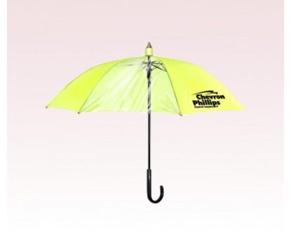 Personalized 46 inch Transparent Panel Drip Catcher Fashion Umbrella - Yellow Canopy