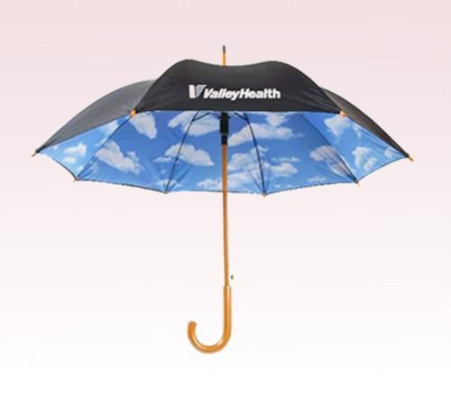 Personalized 48 inch Auto-Open Wood shaft Fashion Umbrella