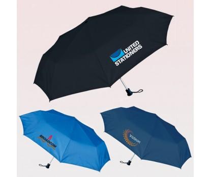 42 Inch Arc Custom Printed Folding Umbrellas