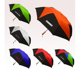 Custom Printed 58 Inch Vented Pinwheel Umbrellas