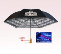 Personalized 46 inch Auto-Open Undercover Plaid Design Folding Umbrella