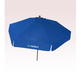 7 Ft Custom Imprinted Wood Market Umbrellas with Valances