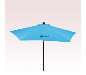 7 Ft Custom Printed New Steel Market Umbrellas