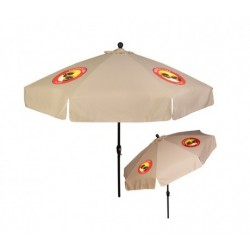 9 ft x 8 Panel Patio Umbrellas With Crank w/ 4 Colors