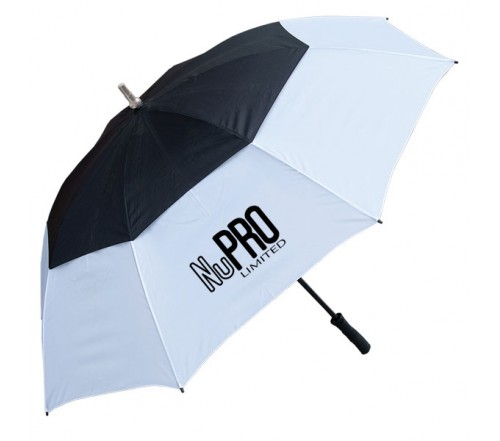60 Inch Arc Custom Printed Golf Umbrellas W/ 3 Colors