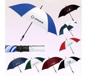 60 Inch Arc Custom Printed Manual Fiberglass Golf Umbrellas