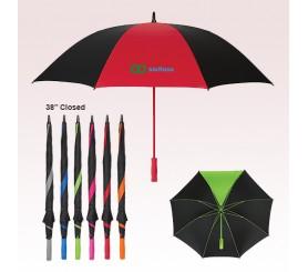 60 Inch Arc Promotional Splash of Color Golf Umbrellas