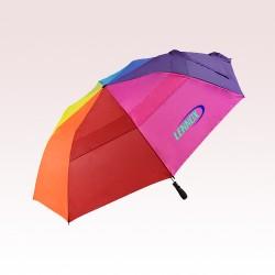 58 Inch Arc Custom Printed MVP Rainbow Umbrellas