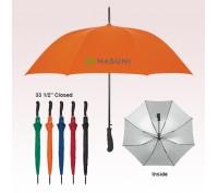 47 Inch Arc Promotional Logo Silver Lining Umbrellas
