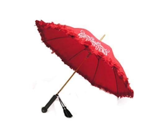 Personalized 46 inch Auto-Open Floral Ladies Ruffles Style Fashion Umbrella