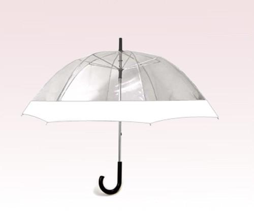 Personalized 54 inch Bell-shape White Wedding Umbrella