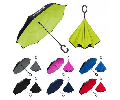 48 Inch Arc Custom Printed UnbelievaBrella™ Solid Reverse Umbrellas