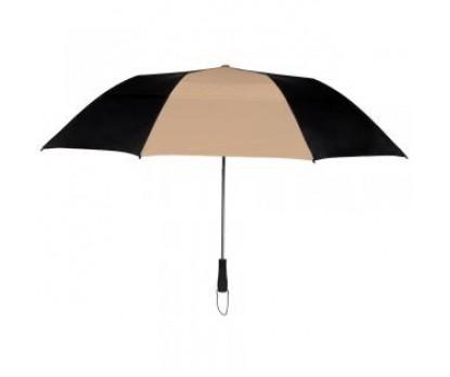 Custom Black & Khaki 58 inchArc Vented Economy Umbrellas