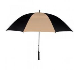 Custom Black & Khaki  62 inch Arc Vented Golf Umbrellas