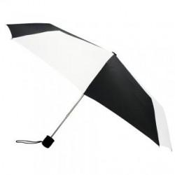 Custom Black & White 43 inchManual Open Mini Fold Umbrellas