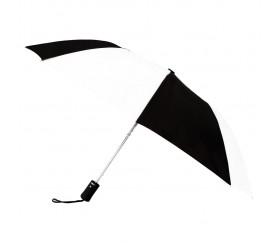 Custom Black & White 43 inchWind Logo Imprinted Umbrellas