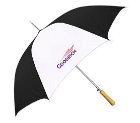 Custom Black & White 48 inchArc Auto-Open Fashion Umbrellas