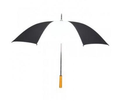 Custom Black & White 55 inchArc Manual-Open Golf Umbrellas