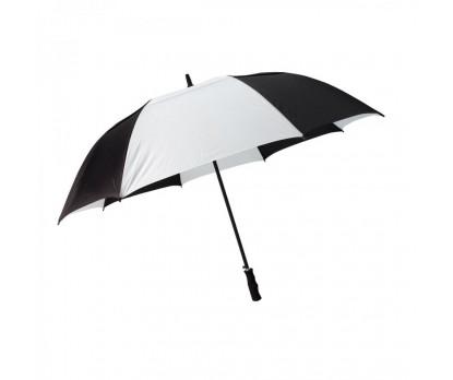 Custom Black & White 58 inch Arc Vented Golf Umbrellas