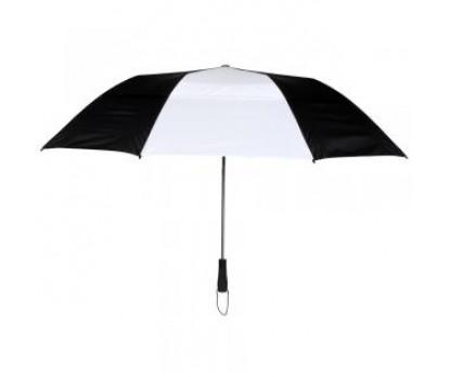 Custom Black & White 58 inchArc Vented Economy Umbrellas