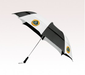 Custom Black & White 58 inchArc Vented Golf Umbrellas