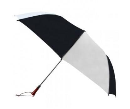 Custom Black & White 60 inchArc Auto Open Golf Umbrellas
