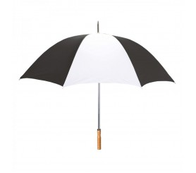 Custom Black & White 60 inchArc Sport Golf Logo Umbrellas