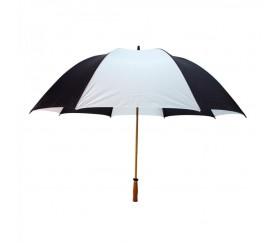 Custom Black & White 64 inchArc Mulligan Golf Umbrellas