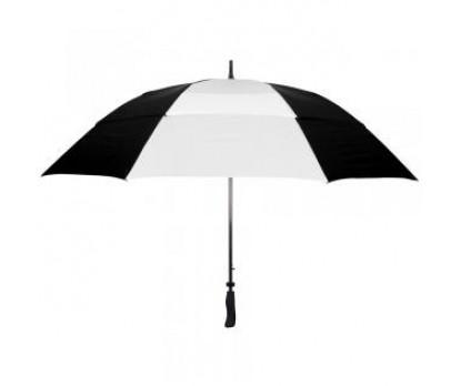 Custom Black & White 64 inchArc Vented Golf Umbrellas