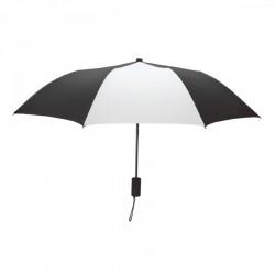 Custom Black and White Mini 42 inch Arc Logo Umbrellas