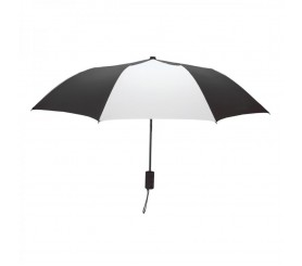 Custom Black & White Mini 42 inchArc Logo Umbrellas