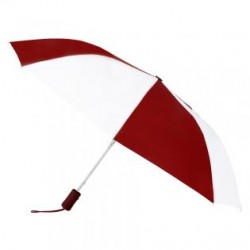 Custom Burgundy & White 43 inchWind Logo Imprinted Umbrellas